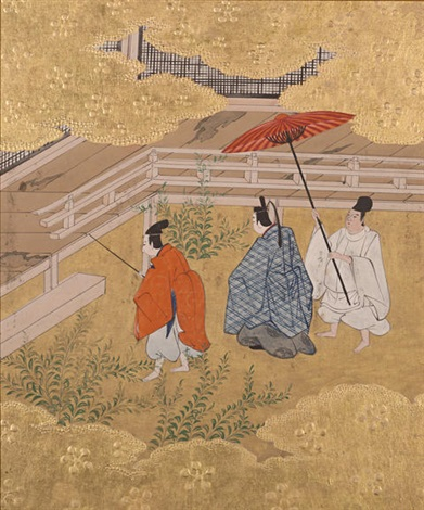 scenes from the tale of genji album w10 works by japanese school tosa 18