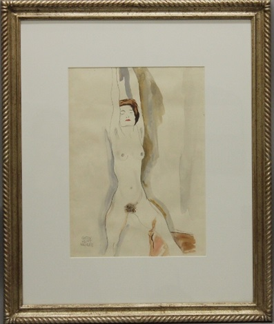 female nude by gustav klimt