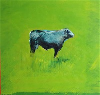 cow in a pasture by richard mclean