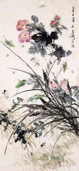 夏日生趣 设色纸本 by wang xuetao