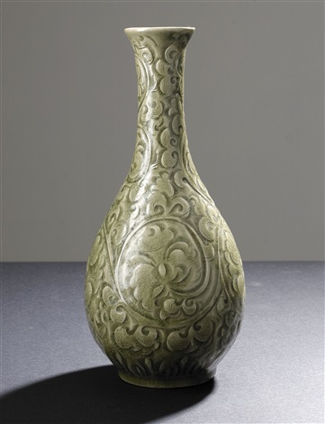 yaozhou celadon wine bottle