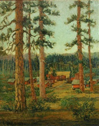 camp in the woods by frederick carl smith