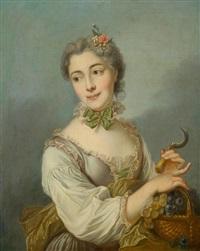la belle vendangeuse by charles-antoine coypel