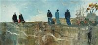 marins et bretonnes sur la dune by christian sanseau