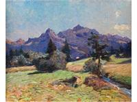landschaft mit bergen by pio solero