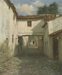 the siesta hour, ronda, spain by burr h. nicholls