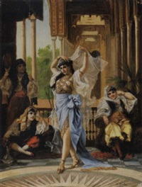 harem dance by f. santos