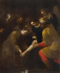 der heilige antonius von padua und das wunder vom angefügten fuss by orazio ferraro