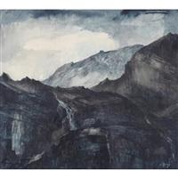 berglandschaft by walter krebs