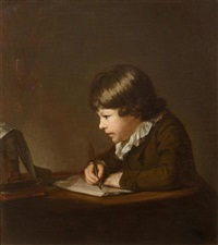 the artist's son, carl anton graff drawing by anton graff