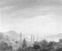 schwarzwaldlandschaft mit blick in das rheintal bei freiburg by ludwig steininger