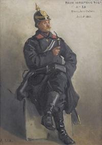 bildnis eines soldaten der rheinischen infanterie by auguste bachelin