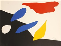 red, blue, yellow, black (abstract composition) by alexander calder
