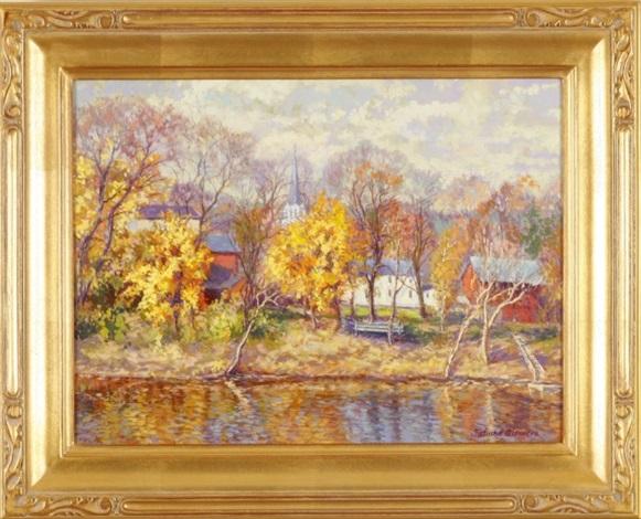 autumn on the river by tatiana alexeeva