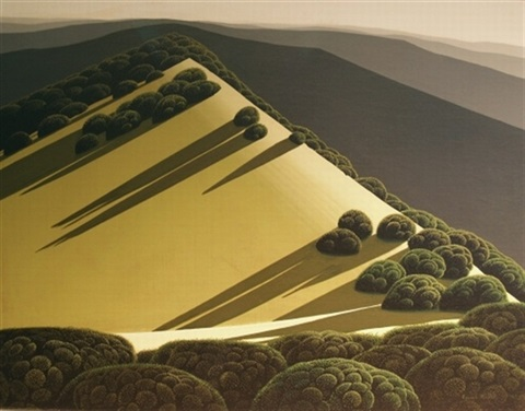 rolling hills by eyvind earle