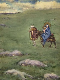 the flight to egypt by james carroll beckwith