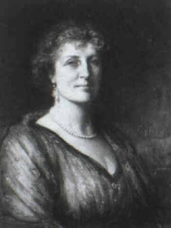 portrait of a lady by george percy r. e. jacomb-hood