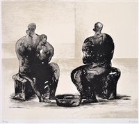 two figures by henry moore