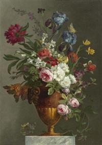 blumen in einer vase by louis joseph le lorrain