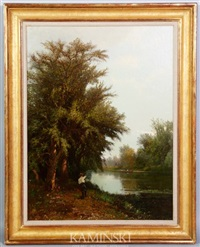 fishing along a river by edward b. gay
