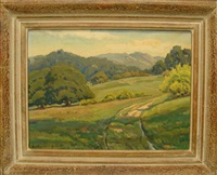 country landscape by arthur hill gilbert