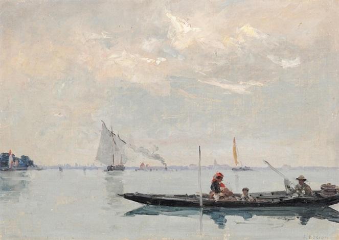 promenade sur la lagune by francois louis david bocion