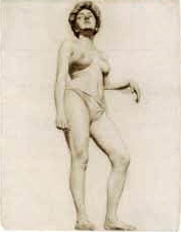 standing female nude by walter ufer