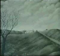 provencalische landschaft by serge fiorio