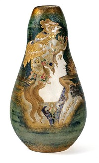 portrait vase: allegory of france by nikolaus kannhauser