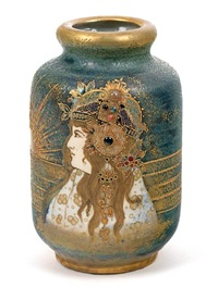 portrait vase: allegory of austro-hungary (model no.0664) by nikolaus kannhauser