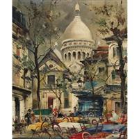 place du tertre et le sacré-coeur by maurice legendre