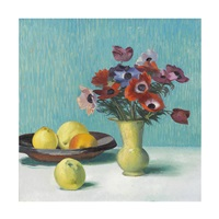 stillleben mit obst und anemonen by marcus jacobi