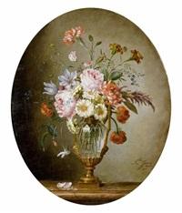 blumenbouquet in einem glaspokal by (madame) peigne