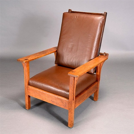 Conjoined Mark Open Arm Morris Chair By L.u0026 J.g. Stickley