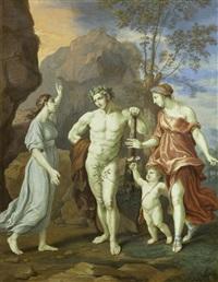 allegorische darstellung mit herkules, amor und diana by bernard (goupy) lens iii