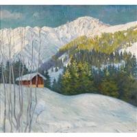 sonniger wintermorgen im gebirge by marcus jacobi