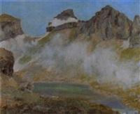 sommerliche gebirgslandschaft mit kleinem see by henri alin