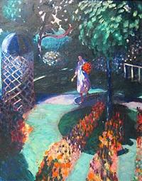 garden with gazebo by john thomas