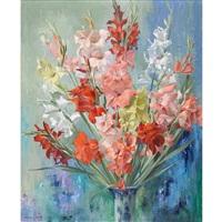 stillleben mit gladiolen by marcus jacobi