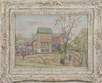 house with two figures at right by joseph b. grossman