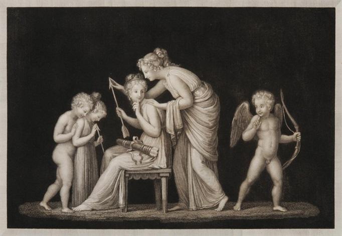 scherzi di ninfe - grazie che dansano - pesieri. (rom) (10 works) by antonio canova