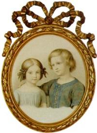 porträt der kinder des künstlers by johann heinrich stürmer