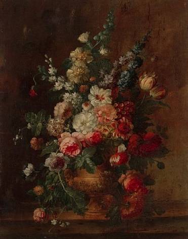 floral still life by jan frans van dael