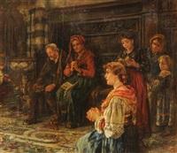 beim gebet in der kirche by maria (philips-weber) weber