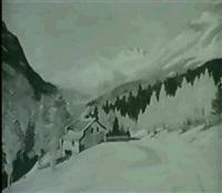 winter am mont cenis by louis eugène glasser