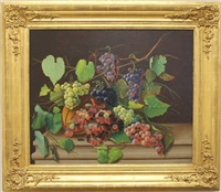 still life with grasshopper & grapes by john j. eyers