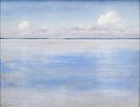 hav och moln; normandie eller bretagne by august vilhelm nikolaus hagborg