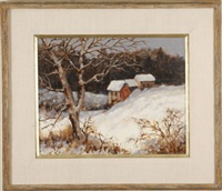 winter landscape by william alfred hofstetter