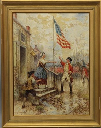 revolutionary war scene by edward percy moran