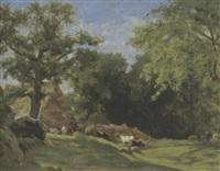 landschaft mit vieh by marie ferdinand jacomin
